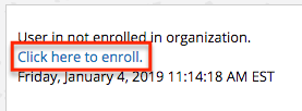 enrollment link in Blackboard