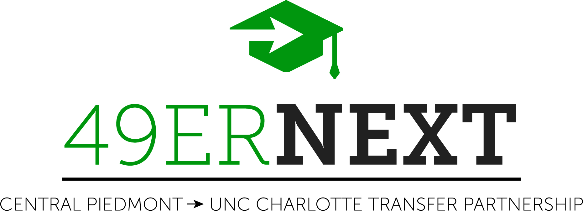 49erNext program logo: Central Piedmont/UNC Charlotte transfer partnership