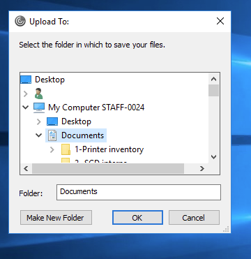 select location to save file