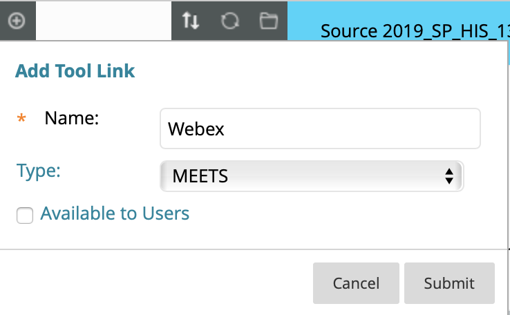 Adding Tool Link to Blackboard Learn, adding a link name
