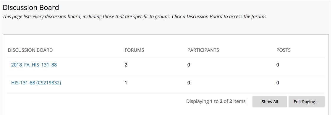 two dashboard issue in Blackboard